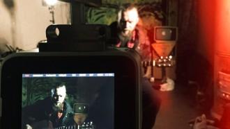 Shooting a film dedicated to Sasha Sokolova.